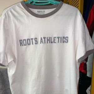 ROOTS Embroidered T shirt
